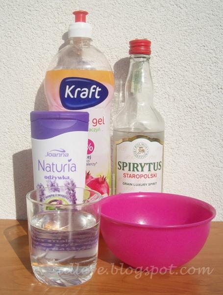 Zrób to sam-płyn do mycia pędzli