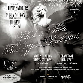 Black and White New Year's Ball 2015 at the City of Dreams Manila