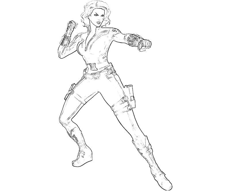free black widow coloring pages - photo#3