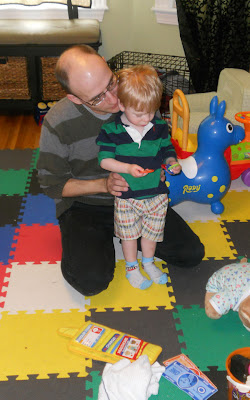 Garrett and daddy playing