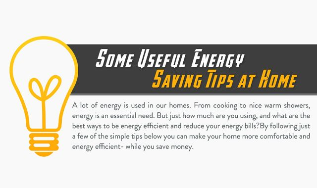 some useful energy saving tips at home  infographic
