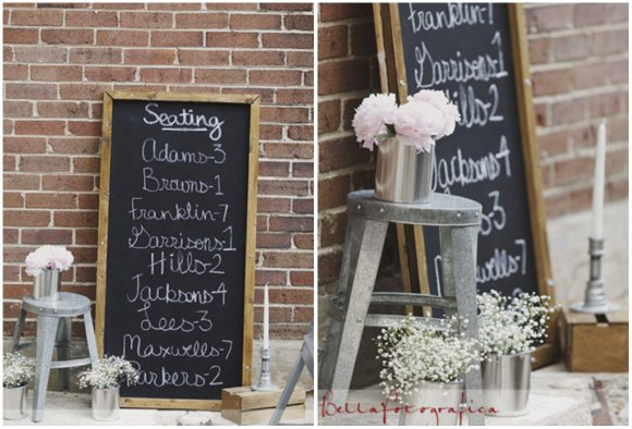 Add Onto That The Peonies Babies Breath And Blackboard To Soften Look Voila Its A Perfect Industrial Wedding