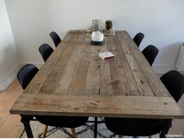 table en bois deco Copenhague scandinave