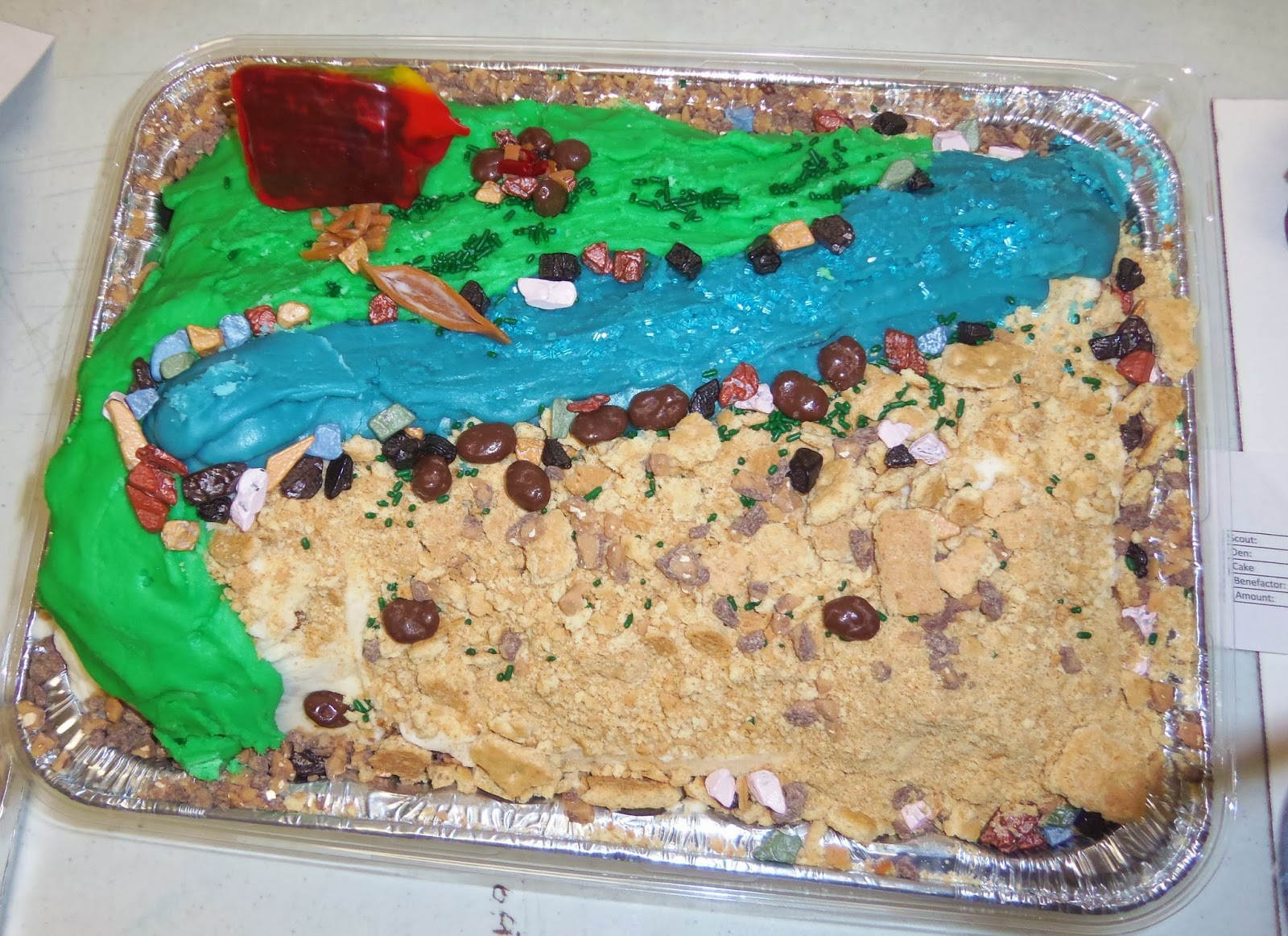 BoyScout Cakes, Cakes, Homemade Cakes, Troop Cakes, Camping Cakes, Camping, Canoe, Tents