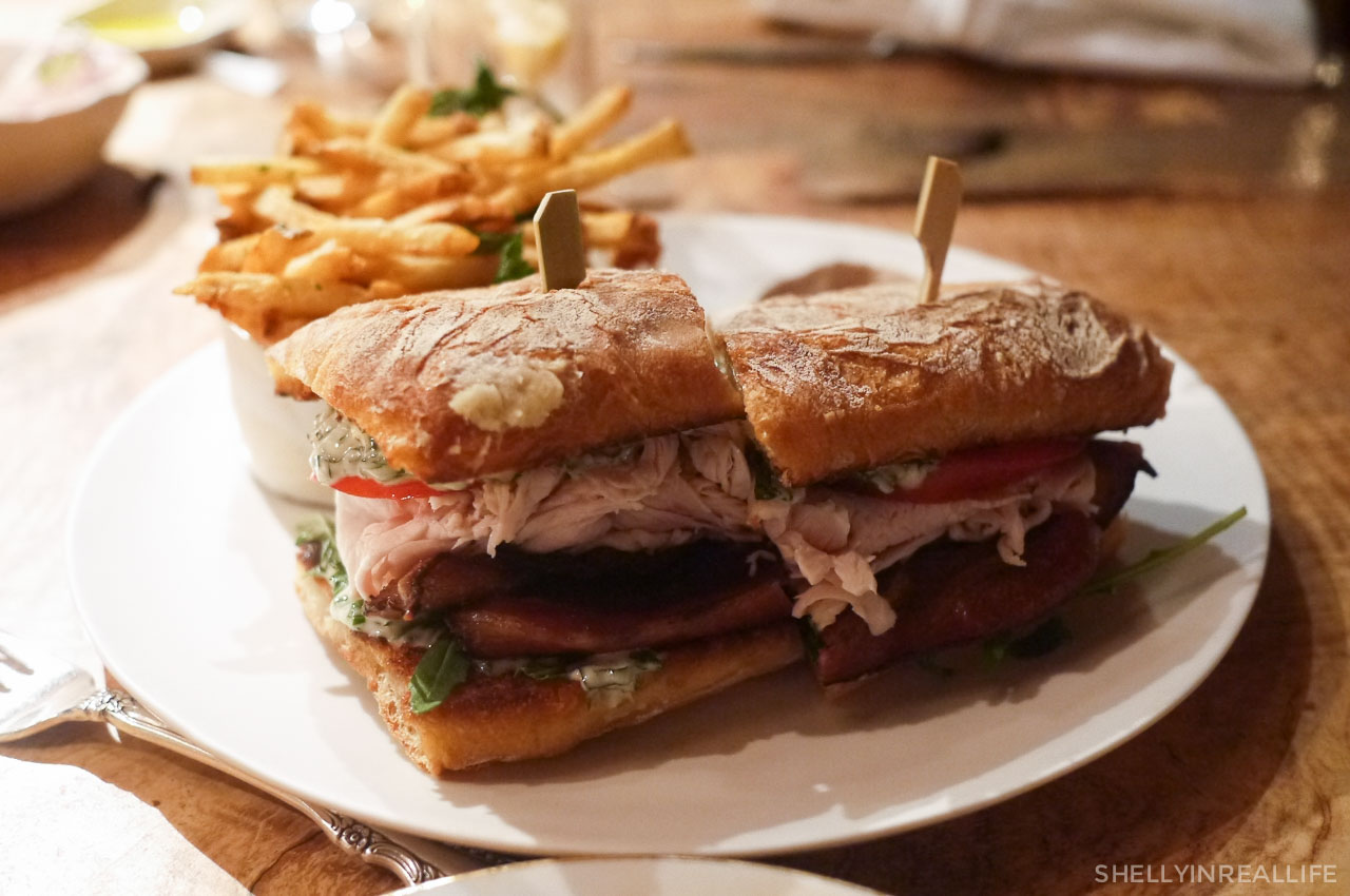 house roasted turkey sandwich applewood smoked bacon arugula and
