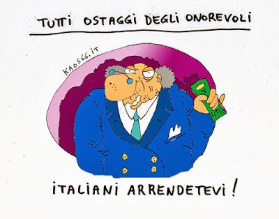 Gli italiani sono ostaggi degli onorevoli