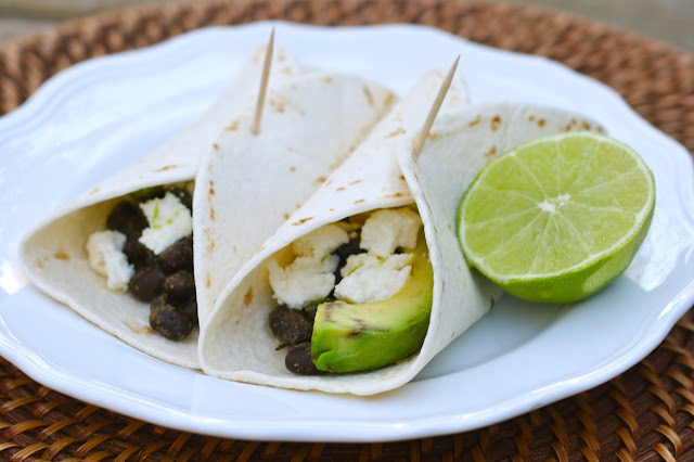 Spiced Black Bean, Avocado, and Queso Fresco Tacos by A Bitchin' Kitchen