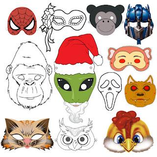 Карнавальны маски на новый год и хеллоуин