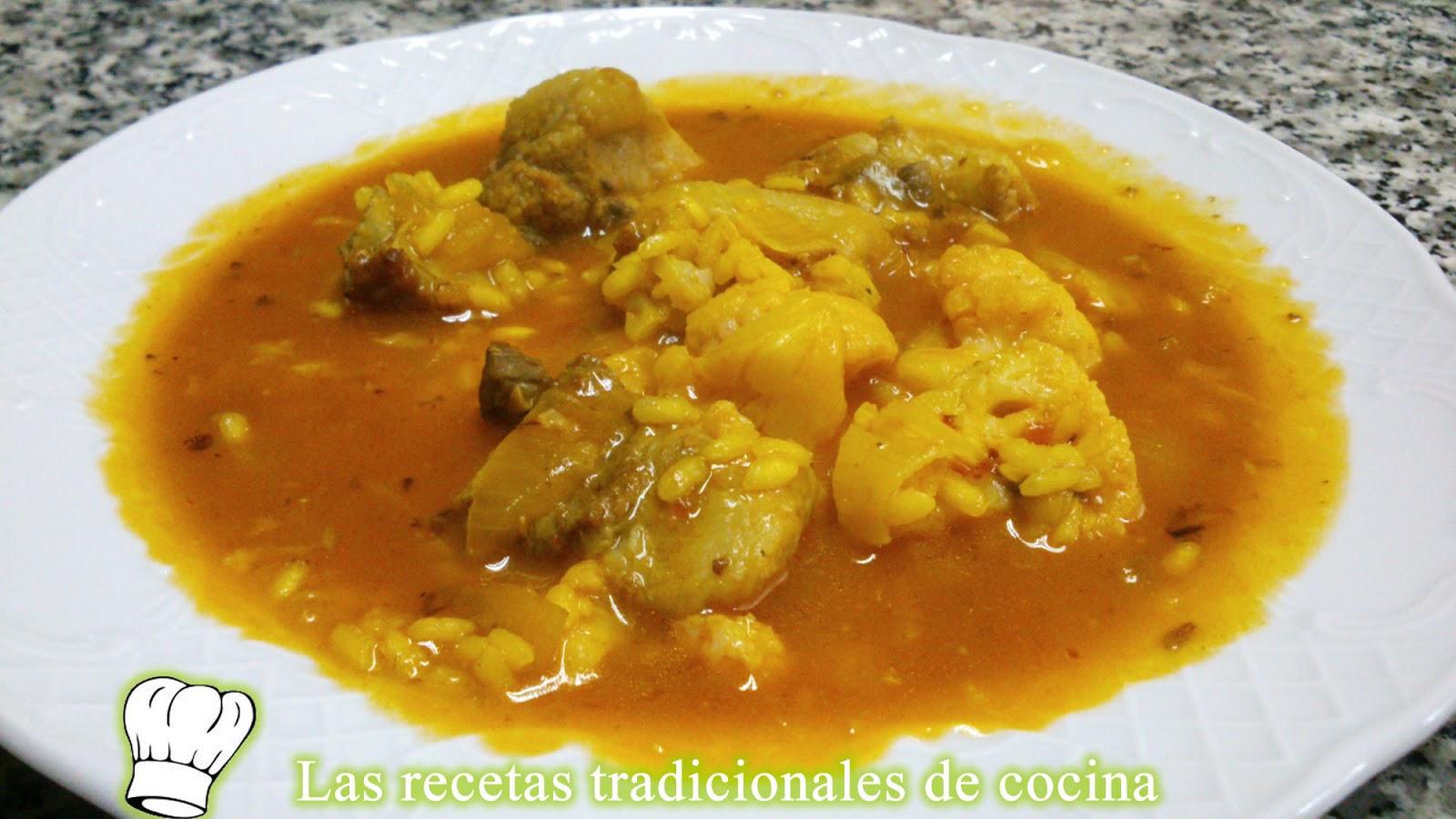 Receta de arroz caldoso con costilla y coliflor recetas - Arroz con verduras y costillas ...