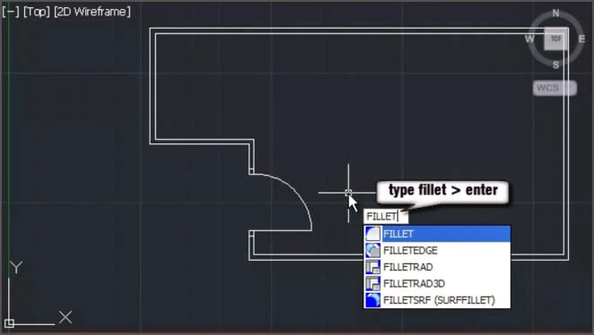 AutoCAD Fillet Command
