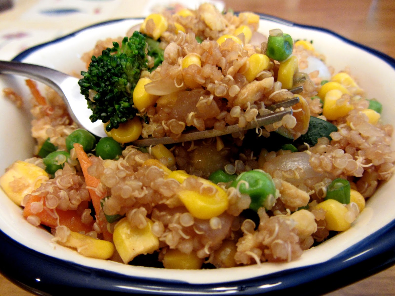 """All Dressed Up, Everywhere To Go: Quinoa Veggie Fried """"Rice"""""""