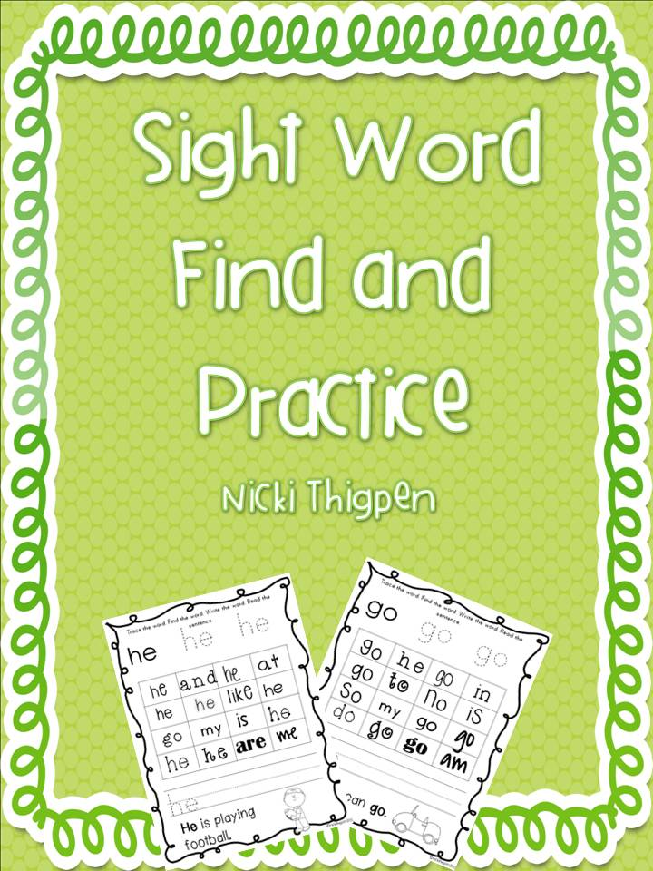 http://www.teacherspayteachers.com/Product/Sight-Word-Find-and-Practice-487122
