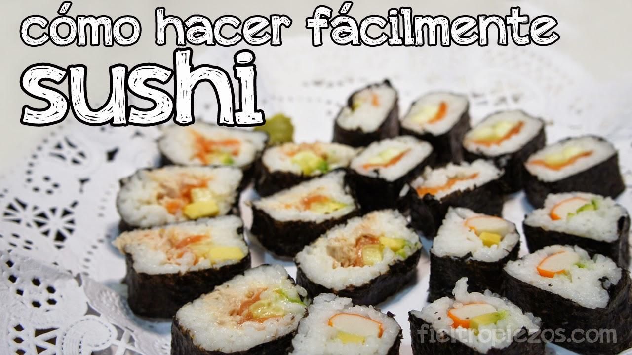 fieltropiezos diy c mo hacer sushi f cil
