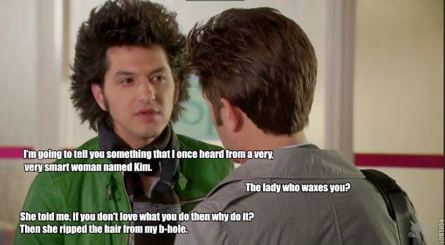 Jean-Ralphio's hair has more personality than the teenagers in the Twilight movies.