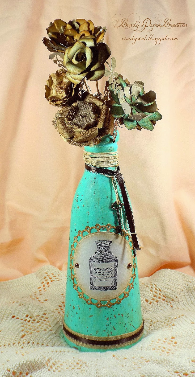 The Altered Glass Carafe by cindywirl.blogspot.com