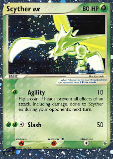 Scyther ex Pokemon Card EX Ruby and Sapphire Set