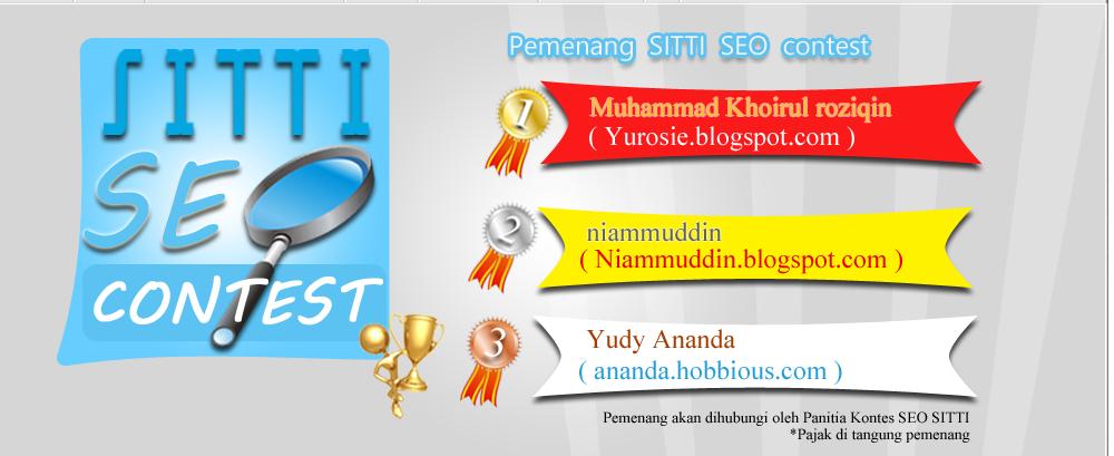 Pemenang Kontes SEO Sitti 2012