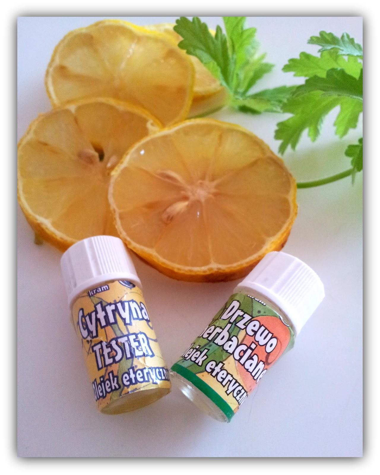 Laboratorium zapachu : olejek cytrynowy & olejek z drzewa herbacianego !