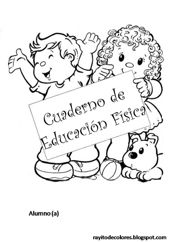 Carátula para cuaderno de Educación Física