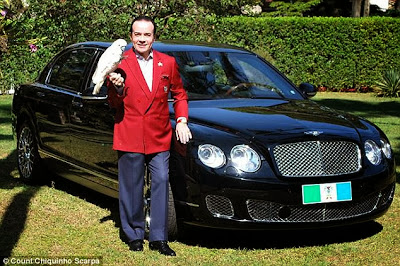 Wonder how a Business Man this Wealthy could be this Dumb According to Recent Reports A 62years old wealthy entrepreneur 'Count Scarpa' is set to bury his greatest treasure - his new £310,000 Bentley convertible.