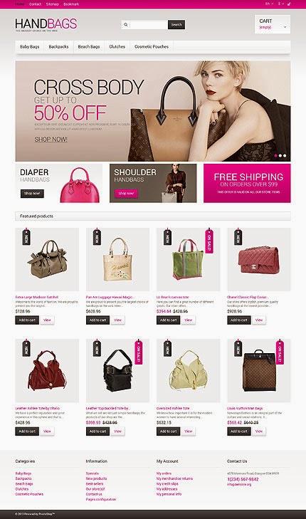 dịch vụ thiết kế website bán hàng túi xách