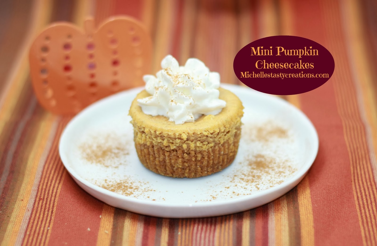 Mini Pumpkin Cheesecake Recipe Mini pumpkin cheesecakes