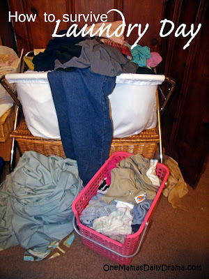 How to survive laundry day | One Mama's Daily Drama