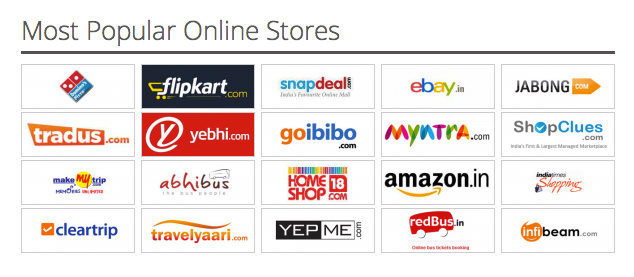 List of best online shopping sites in india 2015 list of for Top online websites for shopping