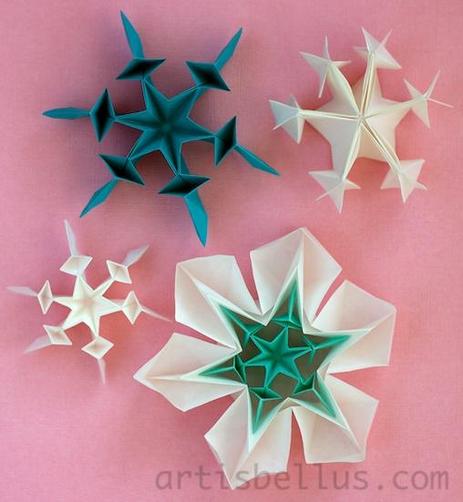 Origami Snowflakes Origami Artis Bellus