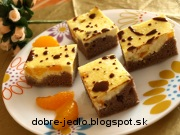 Kakaový koláč s tvarohom - recept
