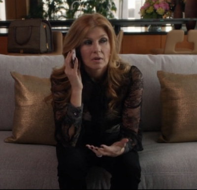 "Rayna's RED Valentino Tie-Neck Lace Blouse Nashville Season 1, Episode 12: ""I've Been Down That Road Before"""