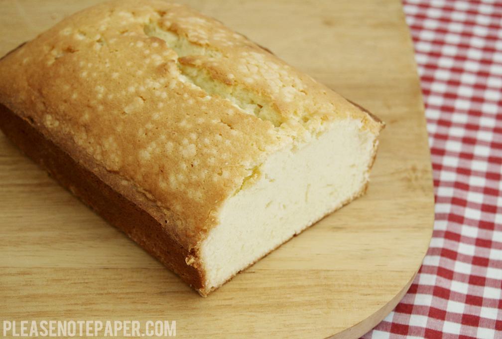 Please Note Sour Cream Pound Cake