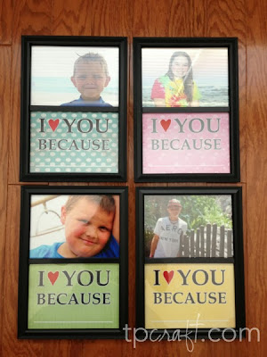I Love You Because... {write on frames}