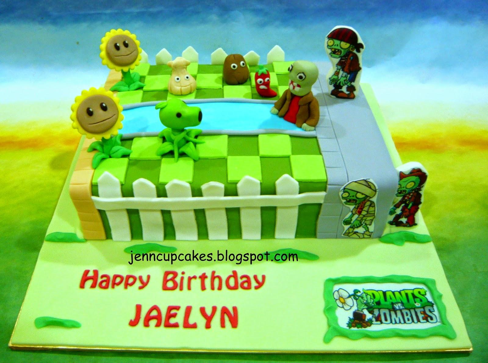 Jenn Cupcakes Muffins Plants Vs Zombies Cake