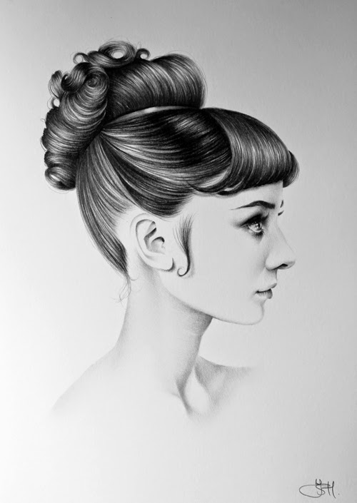 14-Audrey-Hepburn-Ileana-Hunter-Recognise-Portrait-Drawings-Detail-www-designstack-co