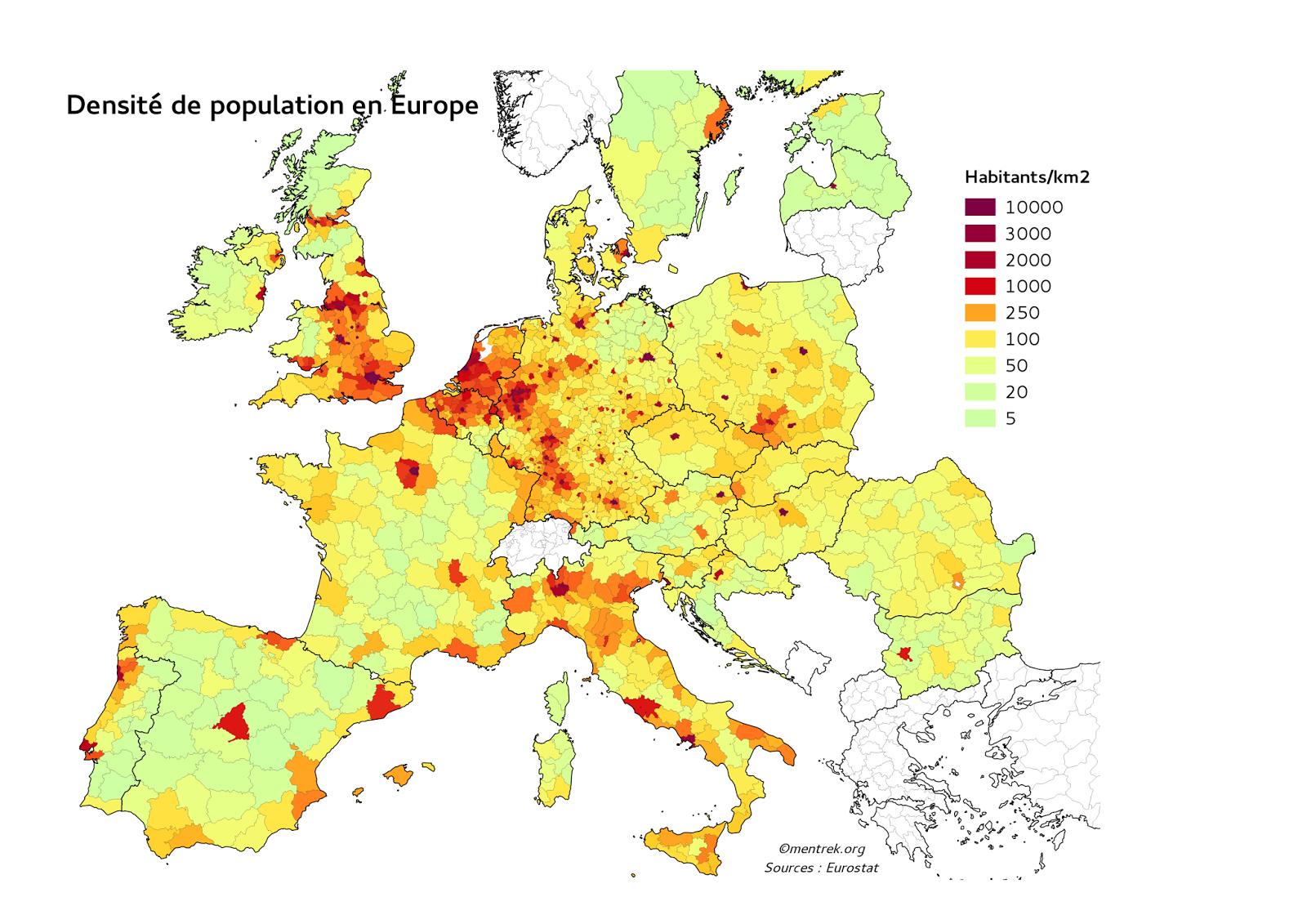 carte europe qgis