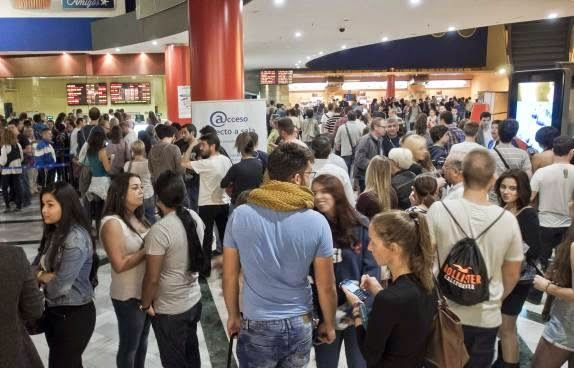 fiesta del cine, colas, asistencia, espectadores, cine, el zorro con gafas