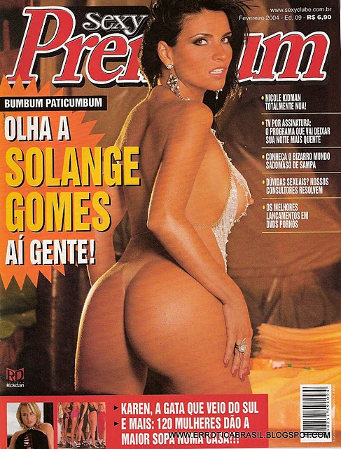 Confira as fotos da modelo e atriz Solange Gomes, capa da Sexy Premium de fevereiro de 2004!