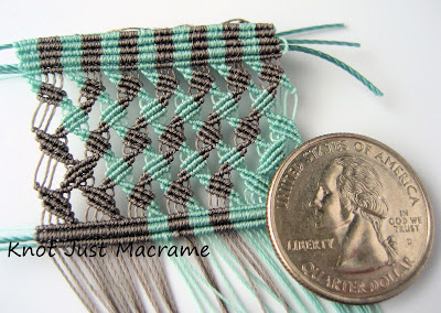 Micro macrame knotting in Superlon Micro Bead Cord S-lon