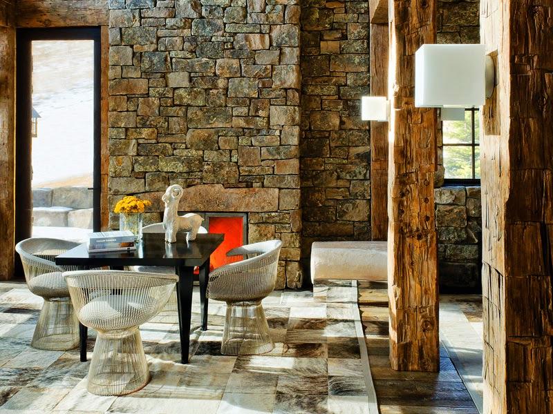 Desain Ruang Rapat Dengan Batu Alam