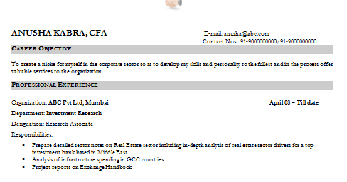 and resume samples with free download financial analyst resume sample