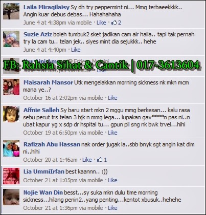 testimoni peppermint-ginger plus