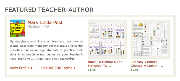 Featured on Teachers Pay Teachers