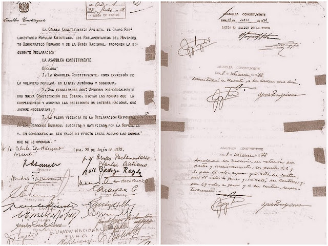 Declaración de la Asamblea Constituyente 1978