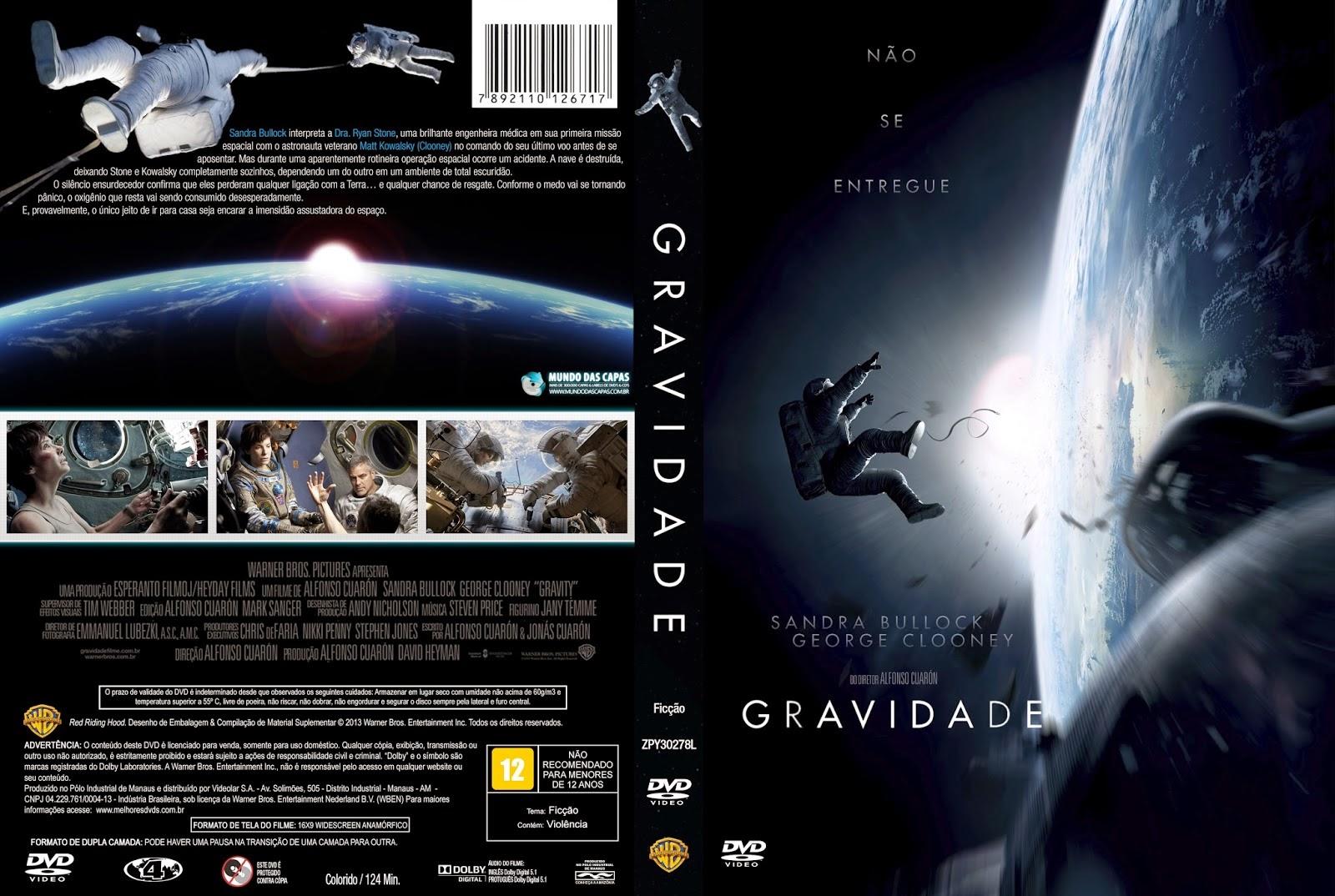 Filme Gravidade DVD Capa