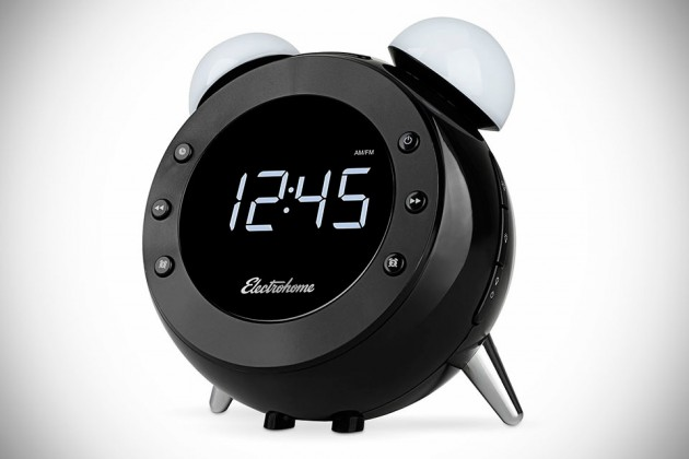 electrohome s retro clock radio looks old school but hides new school tech modernistic design. Black Bedroom Furniture Sets. Home Design Ideas