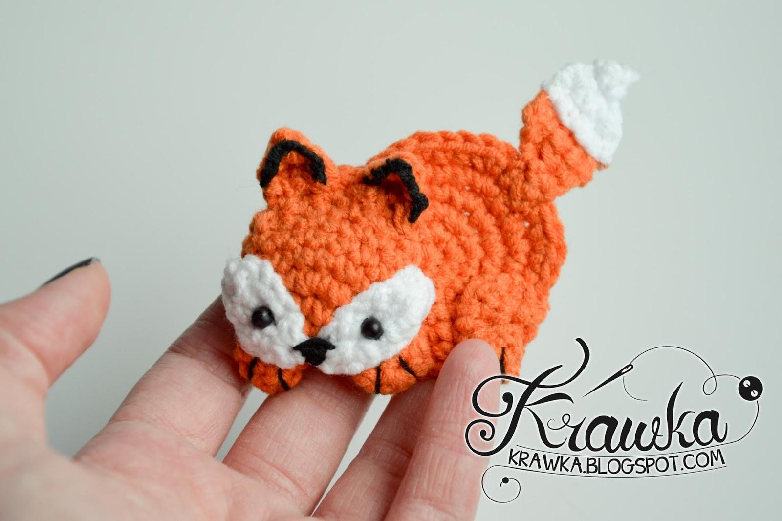 Amigurumi Rattle Free Pattern : Krawka fox brooch free pattern