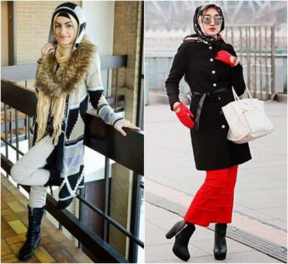 Tips Pakai Busana Hijab Saat Musim Hujan Tampil Stylish
