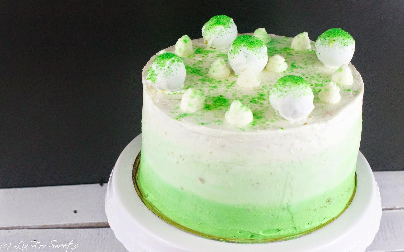 Limetten, Käsesahne, Quark, Frischkäse, Cakebites, Cake-Bites, Cakepops, Cake-Pops, Cakepop-Torte, Cakebite-Torte, grün, Ombre-Frosting, Ombre-Torte, Thermomix