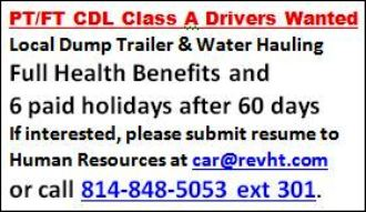 PT-FT CDL Class A Drivers Wanted